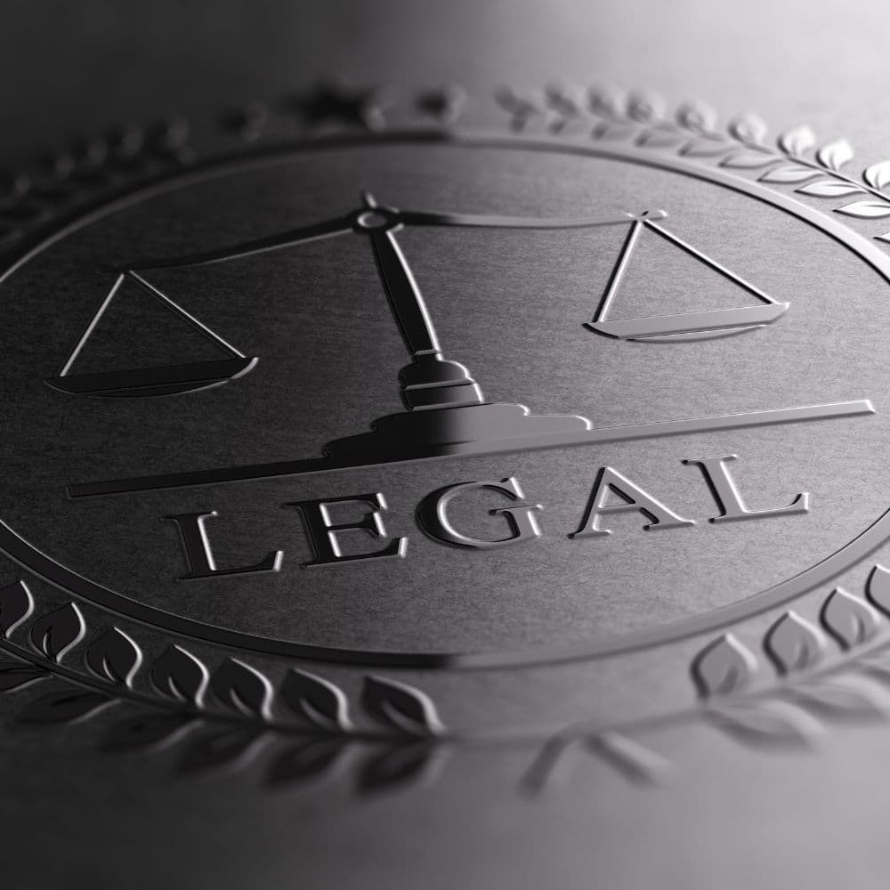 a close up photo if a legal seal